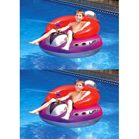 Blow Up Pool Toys (2) Swimline 9078 Swimming Pool UFO Squirter Toy Inflatable Lounge Chair)