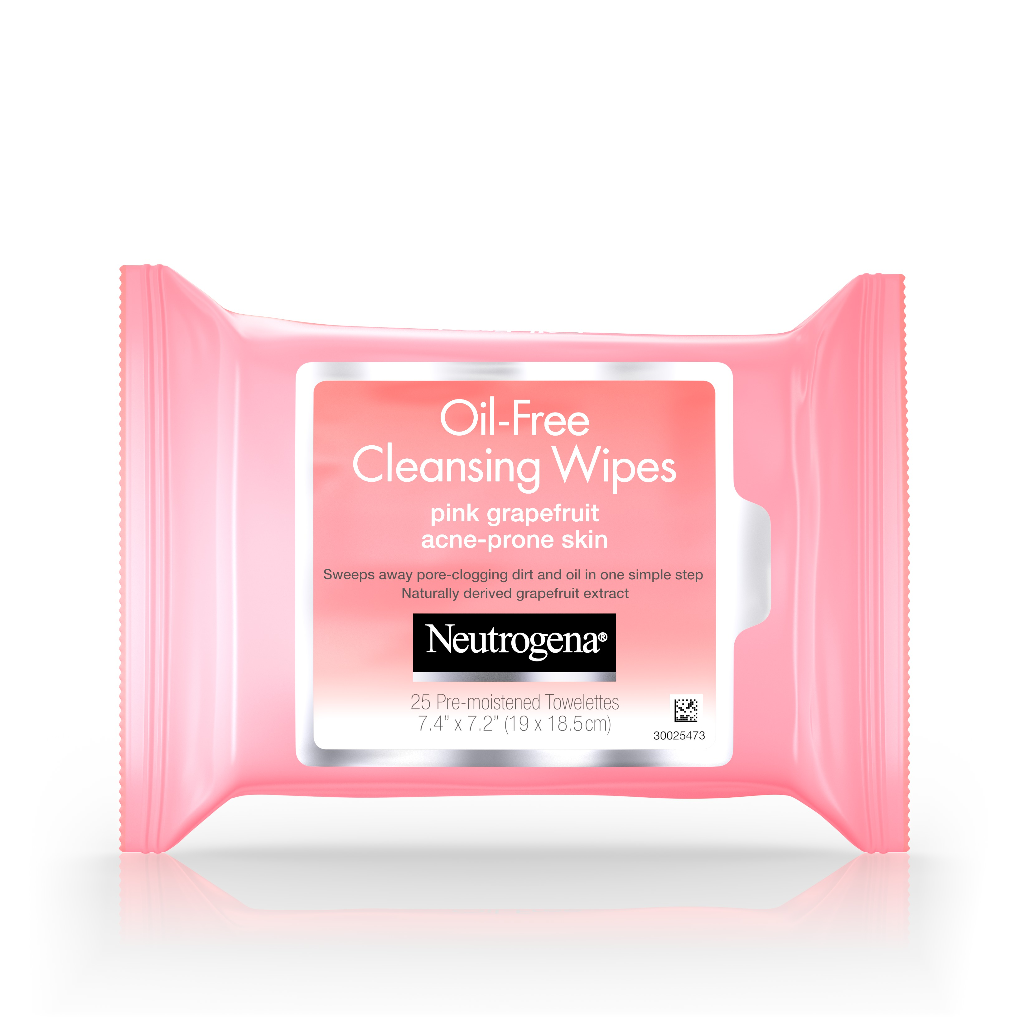 Neutrogena Oil-Free Cleansing Wipes, Pink Grapefruit, 25 Count - Walmart.com