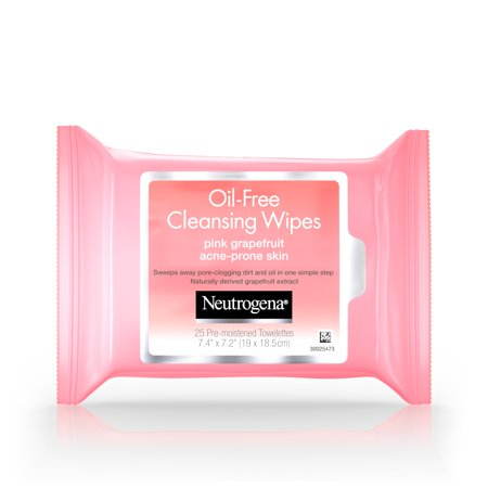 Pore Cleansing Wipes (Neutrogena Oil-Free Facial Cleansing Wipes with Pink Grapefruit 25 ct. )