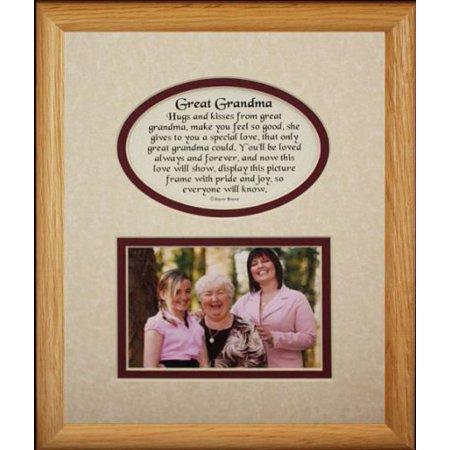 8X10 Great Grandma Picture & Poetry Photo Gift Frame ~ Cream/Burgundy Mat ~ Heartfelt Keepsake Picture Frame For Great Grandma From Great Grandchild Or Great Grandkids Grandmas Keepsakes Antique