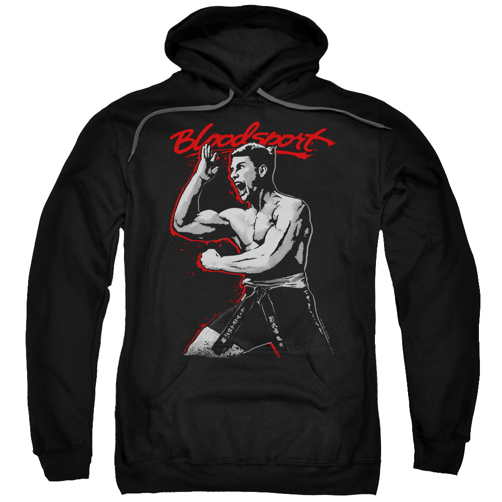Bloodsport Loud Mouth Mens Pullover Hoodie Black Sm