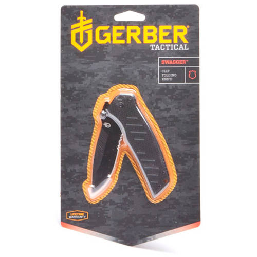 Gerber Swagger Serrated Edge Drop Point Clip Folding Knife
