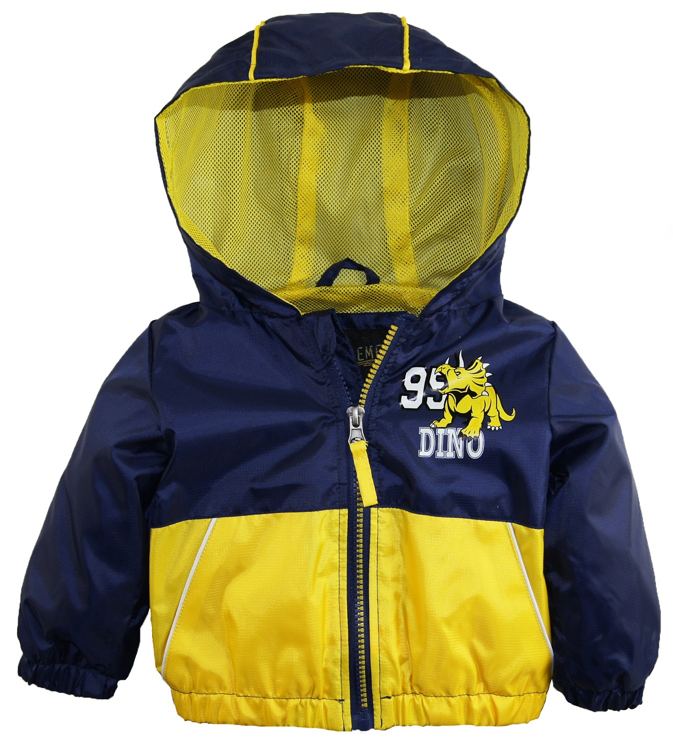 iXtreme Baby Boys' Hooded Colorblock Spring Jacket with Dino