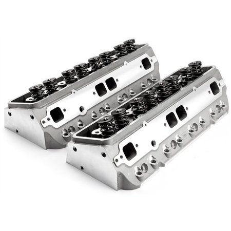 Speedmaster PCE281.2009 Small Block Chevy 350 Aluminum Cylinder Heads 205cc / (Best Cylinder Heads For 350)