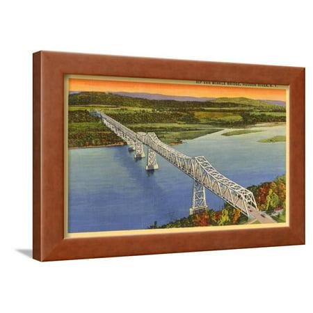 Rip Van Winkle Bridge, Hudson River, New York Framed Print Wall Art