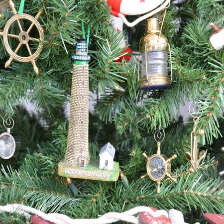 Island Christmas Theme.Handcrafted Nautical Decor Boone Island Lighthouse Christmas
