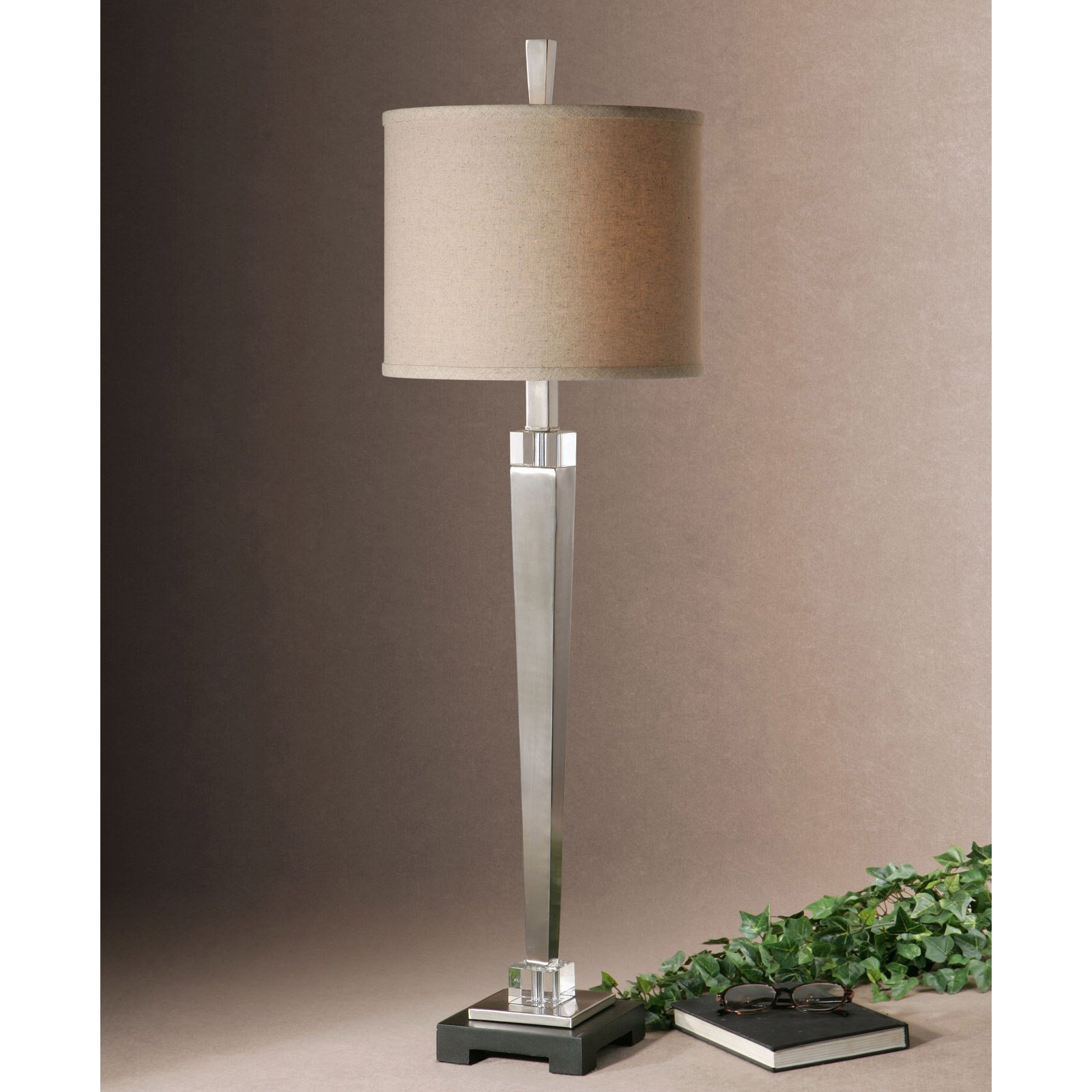Uttermost Terme 29581-1 Brushed Nickel Buffet Table Lamp