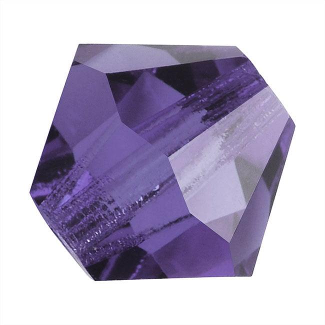 Preciosa Czech Crystal Bicones Glass Beads 4mm 'Tanzanite' (50)