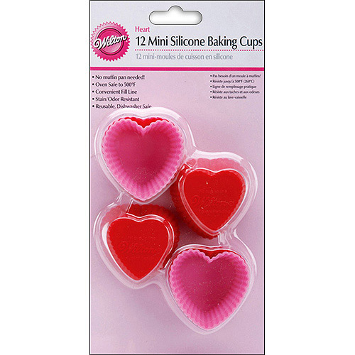 Wilton Silicone Mini Heart Baking Cups,