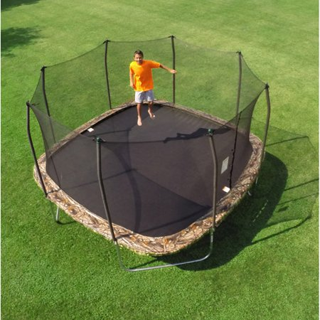 Skywalker 14; Square Trampoline and Enclosure, Camouflage