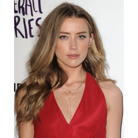 Amber Heard At Arrivals For The Adderall Diaries Screening Rolled Canvas Art     8 X 10
