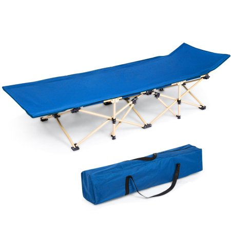 Portable Bed 260lbs Capacity Camping Cot Foldable for Adults,Camping Patio Home Travel Folding Bed with Storage Bag (Best Travel Coats For Europe)