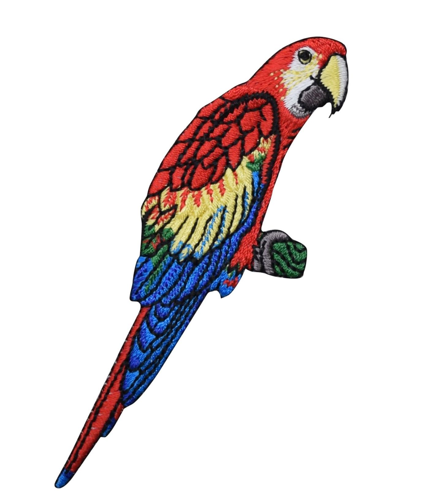 Colorful Parrot Iron On Embroidered Patch