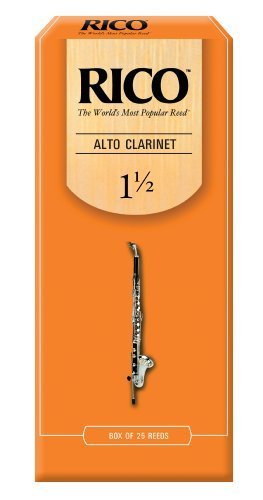 Rico Alto Clarinet Reeds, Strength 1.5, 25-pack by Rico