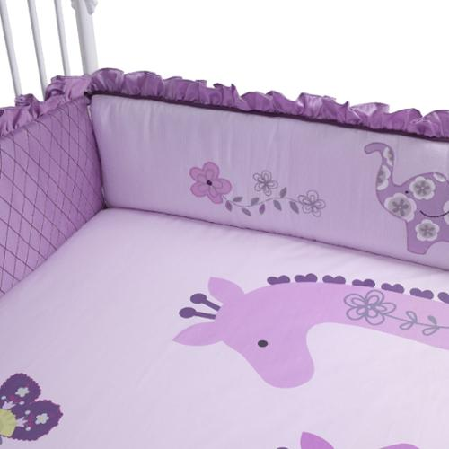 Bedtime Originals Lavender Jungle Crib Bumper