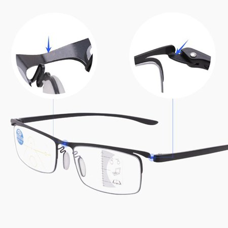 Progressive multi-focus metal solderless point automatic zoom reading glasses - image 7 of 10
