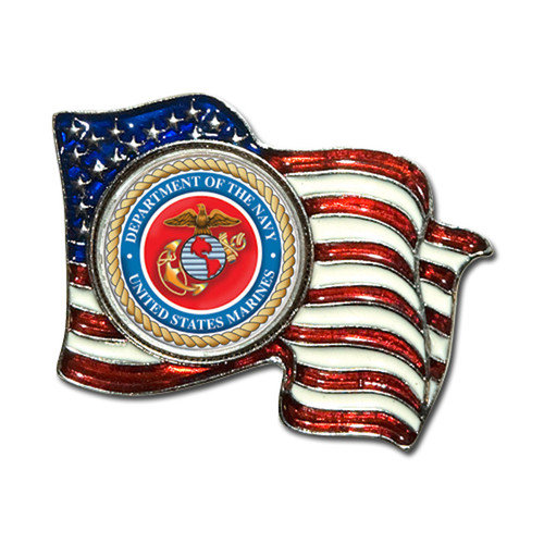 American Coin Treasures Armed Forces Colorized Quarter Flag Pin
