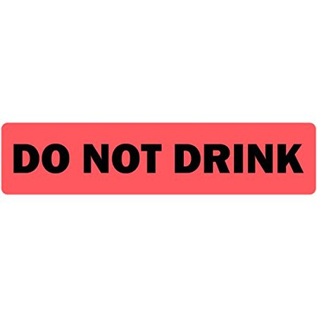 Do Not Drink Medical Label Fluorescent Red - 500 Labels Per Roll, 500 Labels Per roll By LabelValuecom - Drink Labels
