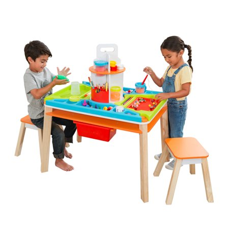 KidKraft Ultimate Creation Station Art Table with Two Stools Now $79.99 (Was $129.99)