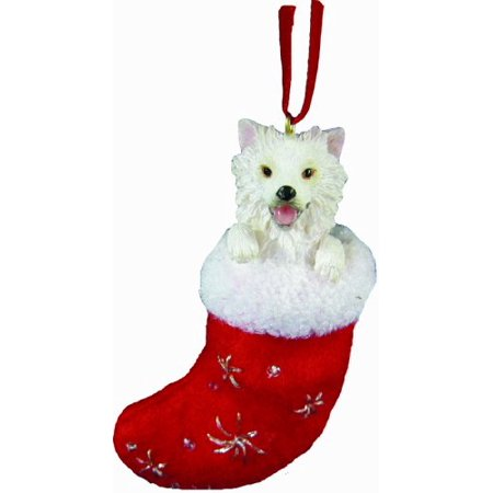 American Eskimo Christmas Stocking Ornament with