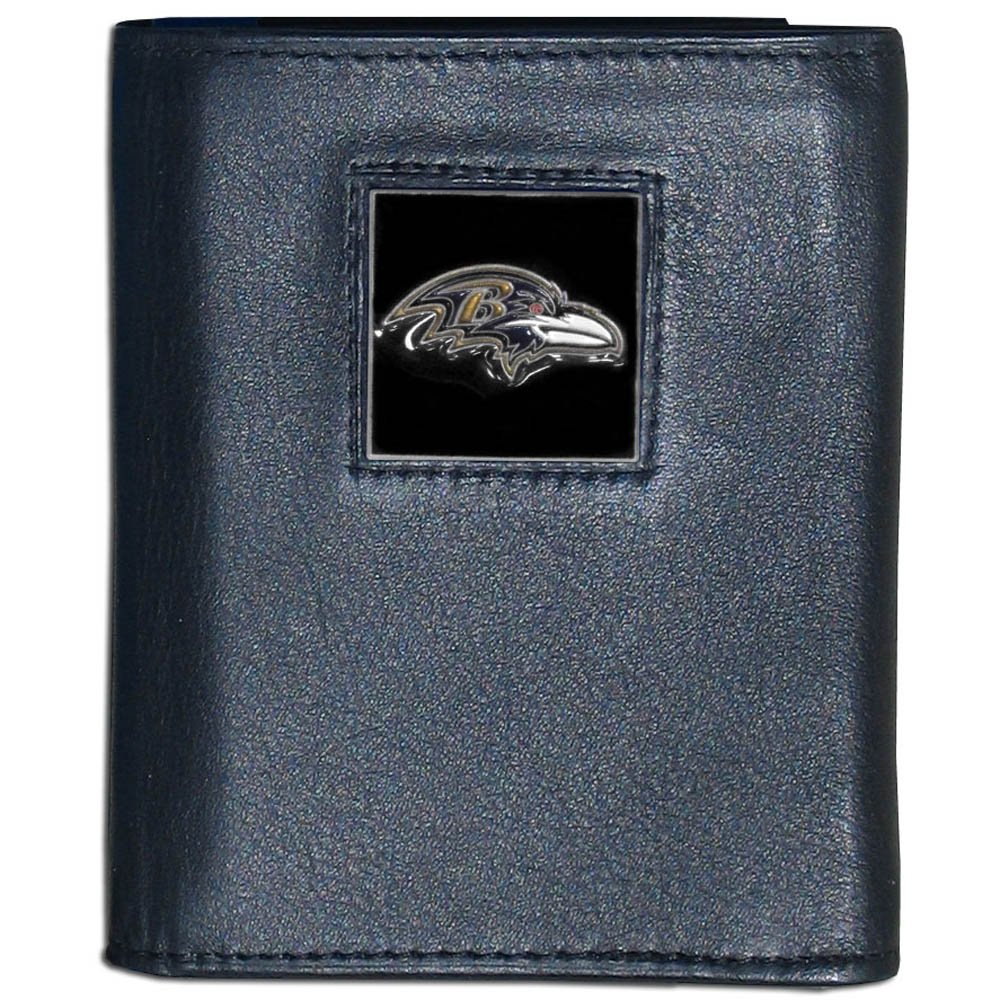 Baltimore Ravens NFL Leather and Nylon Tri-fold Wallet by Siskiyou 969812