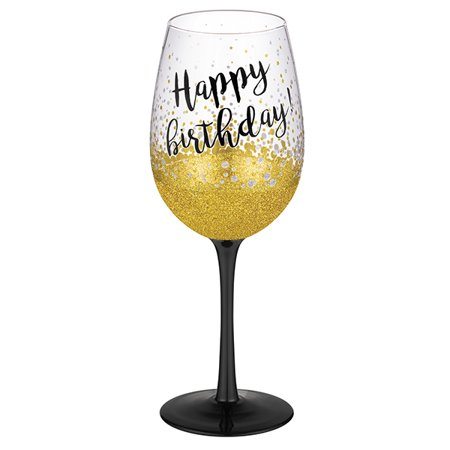 Grasslands Road Happy Birthday Wine Glass