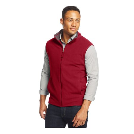Club Room Mens Solid Fz Fleece Vest