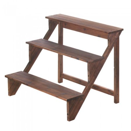 WOODEN STEPS PLANT STAND ()