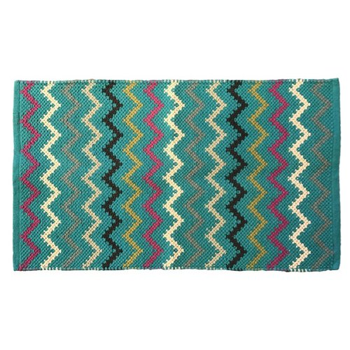 AM Home Textiles Hand-Woven Blue Area Rug