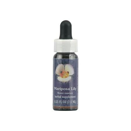 Flower Essence Mariposa Lily Herbal Supplement Dropper - 0.25 Oz