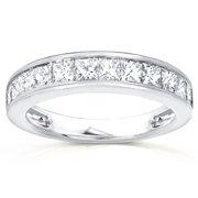 Annello  by Kobelli 14k Gold 1ct TDW Channel Princess Diamond Wedding Band