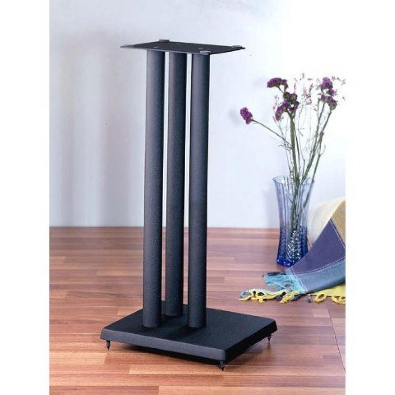 VTI Manufacturing RF36 36 in. H44; Iron Center Channel Speaker Stand Black by