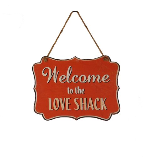 American Mercantile Metal Hanging Sign 'Love Shack' Wall Decor