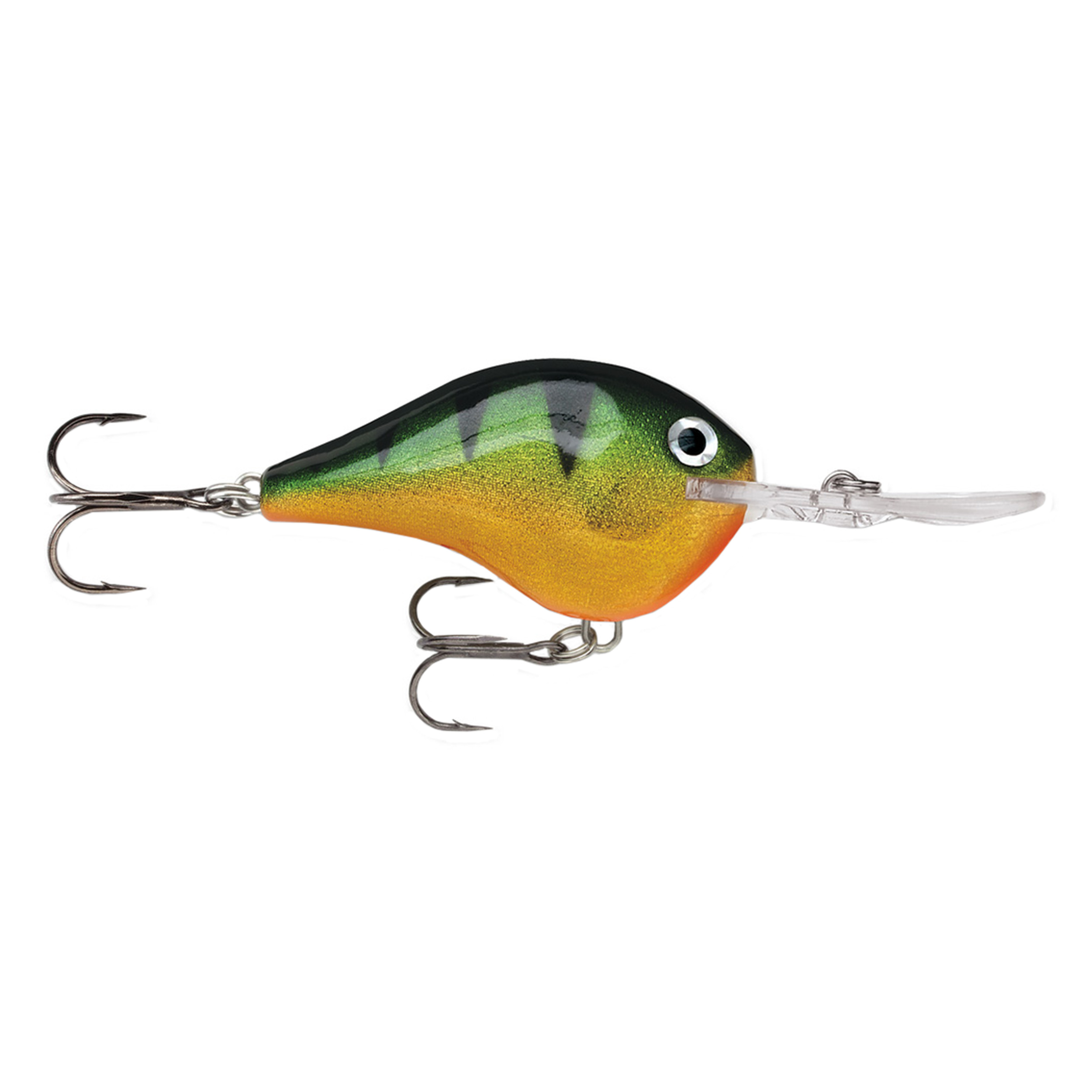 "Rapala Dives-To Series Custom Ink Lure Size 04, 2"" Length, 4' Depth, 2 Number 6 Treble Hooks, Perch, Per 1 by Rapala"