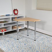 Triangular Natural Collaborative Adjustable Student Desk - Home and Classroom
