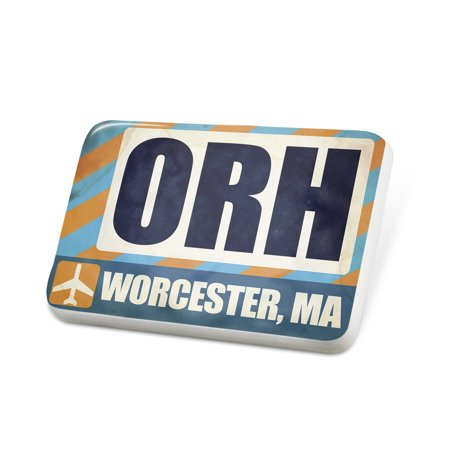 Porcelein pin airportcode orh worcester ma lapel badge for Jewelry stores in worcester massachusetts