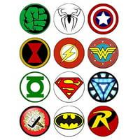 12 EDIBLE Superhero Cupcake Toppers, superheroes, super hero, spiderman cupcake toppers, batman cupcake toppers, hulk cupcake