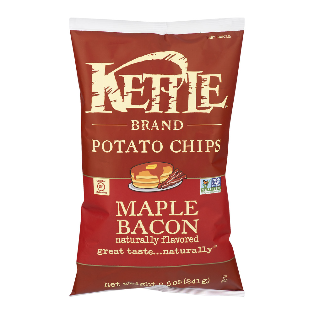 Kettle Brand Potato Chips Maple Bacon, 8.5 OZ by Kettle Foods, Inc.