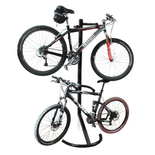 RAD Cycle Gravity Bike Stand Bicycle Rack For Storage or Display Holds Two Bicycles But Takes Up Half The Space