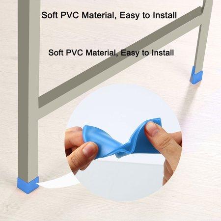 50mm x 50mm Angle Iron Foot Pad L Shaped PVC Leg Cap Floor Protector Blue 2pcs - image 3 de 7