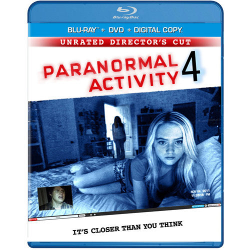 Paranormal Activity 4 (Rated/Unrated) (Blu-ray + DVD) (With INSTAWATCH) (Widescreen)