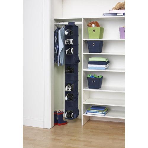 Mainstays 10-Shelf Organizer, Navy Blue
