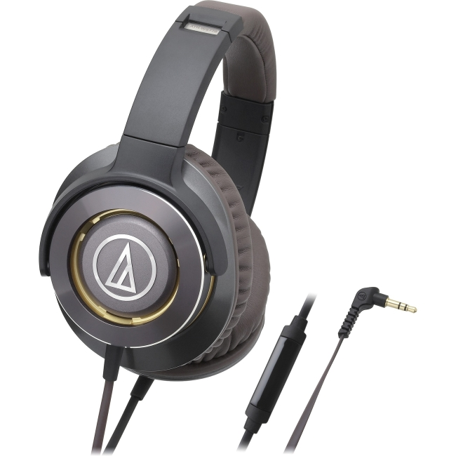 Audio Technica Solid Bass Over-Ear Headphones with In-line Mic & Control ATH-WS770ISGM