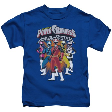 Power Rangers Team Lineup Little Boys Juvy Shirt - Power Ranger Clothes For Toddlers
