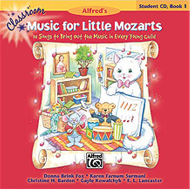 Alfred 00-34025 Classroom Music for Little Mozarts- Student CD Book 1 - Music Book
