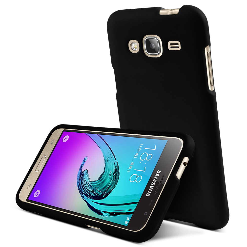 newest 16baf 853fe Samsung Galaxy J3 Case, [Black] Slim & Protective Rubberized Matte ...