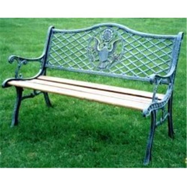 Oakland Living American Eagle Cast Iron and Wood Garden Bench by Oakland Living Corporation