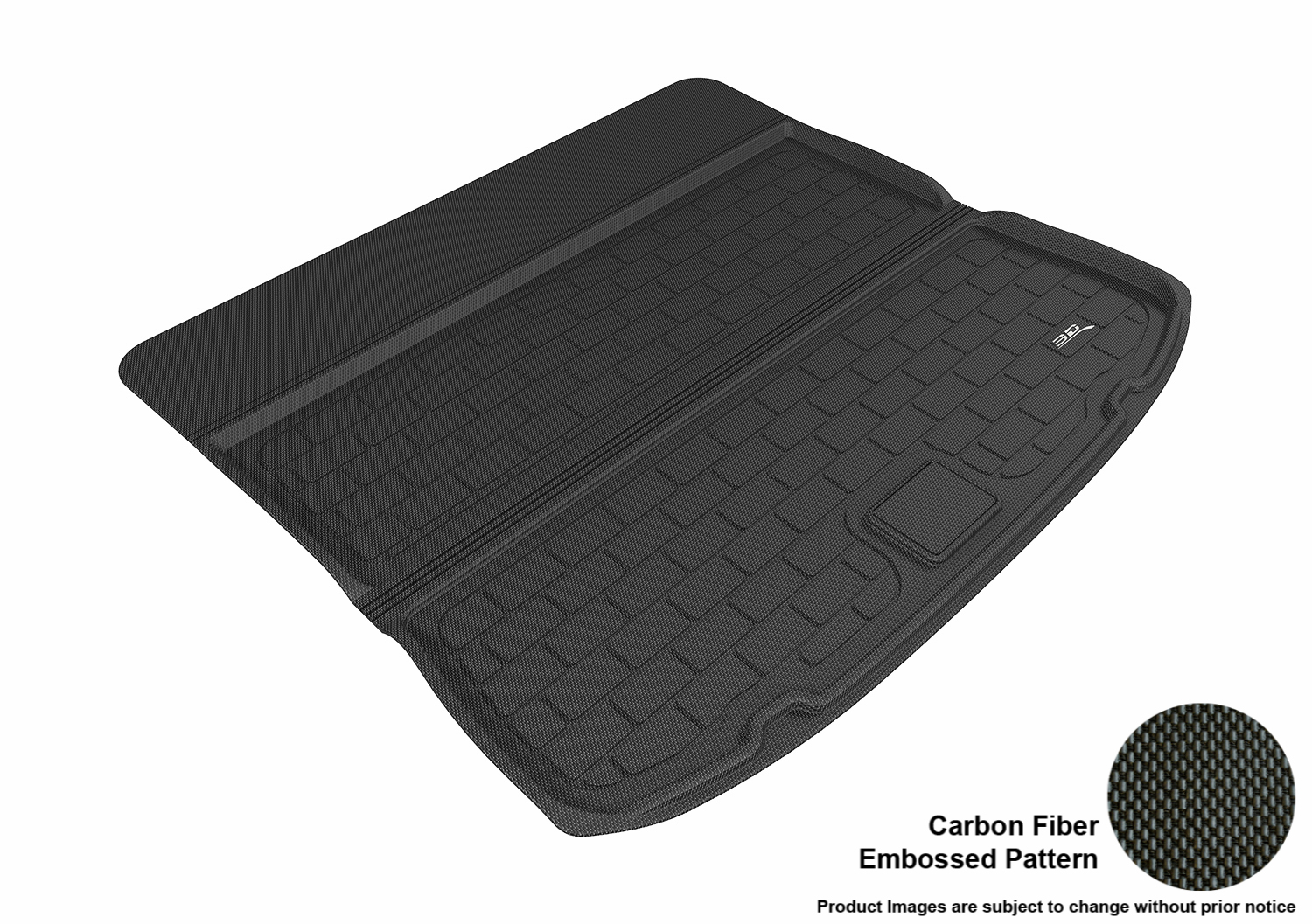 D Maxpider   Ford Edge All Weather Cargo Liner In Black With Carbon Fiber