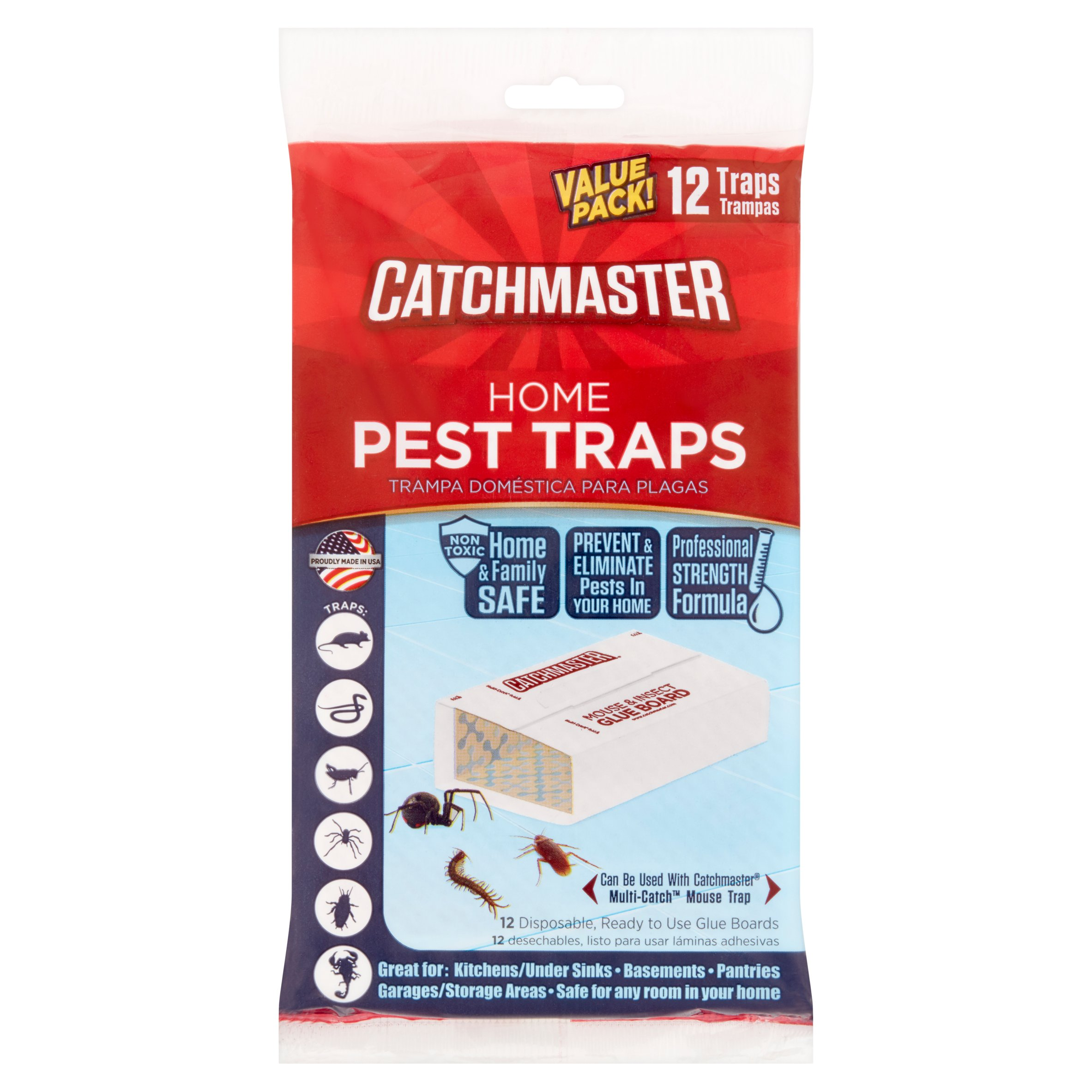 Catchmaster Value Pack! Home Pest Traps, 12 count