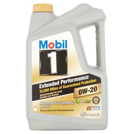 Mobil 1 Extended Performance 0W 20 Full Synthetic Motor Oil  5 Qt